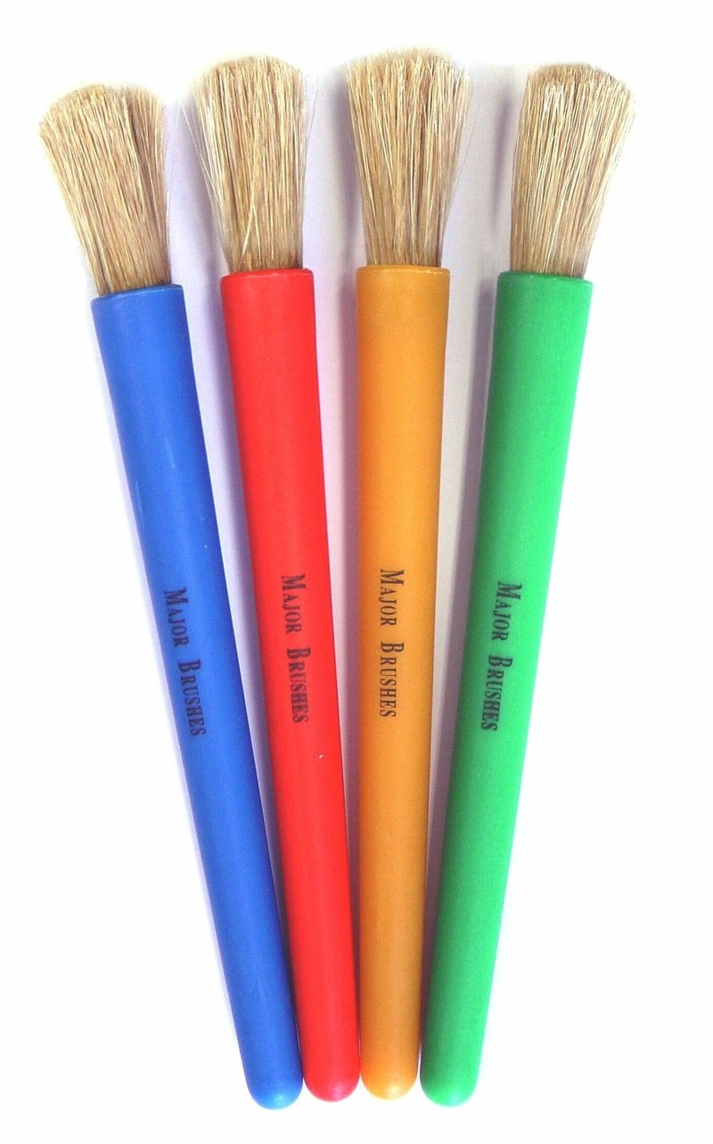 Children's Chubby Paint Brushes Pack of 4