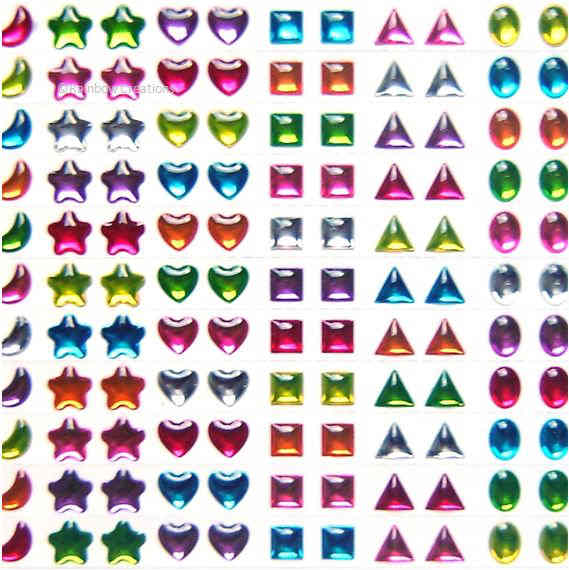 Stick on gems children 39 s craft supplies decorations for Stick on gems for crafts
