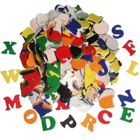Small Felt Alphabet Letters Self Adhesive Stickers