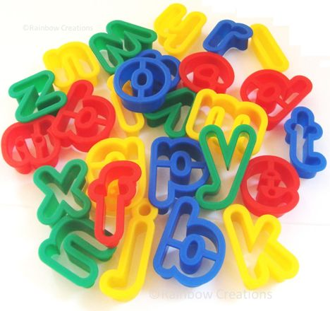 Playdough Letter Cutters Plastic Alphabet Dough Cutters Model Making Modelling