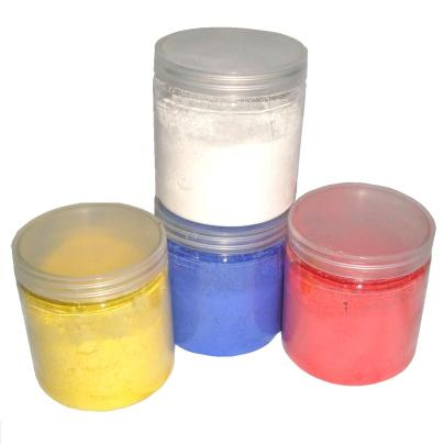 Small pots of powder paint children 39 s art materials for Pot painting materials required