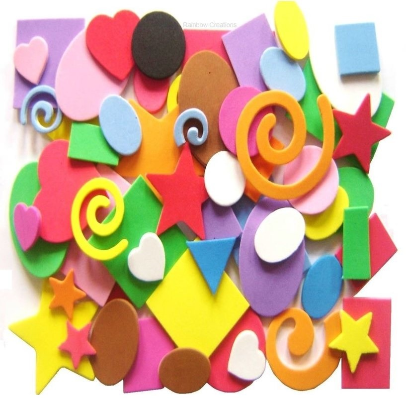 Mixed Self Adhesive Foam Shapes
