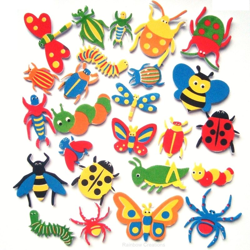 Minibeasts Foam Stickers