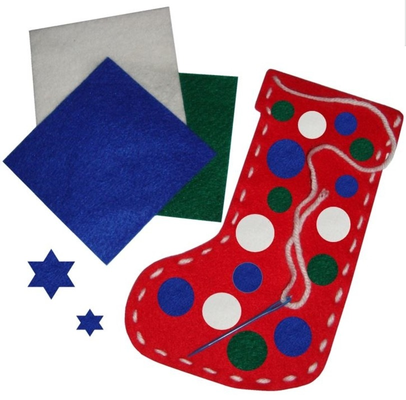 Children 39 S Christmas Stocking Kit Seasonal Craft Supplies