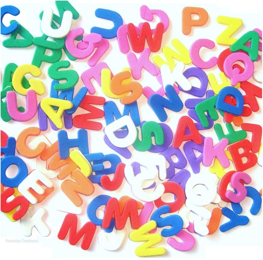 self adhesive eva foam alphabet letters