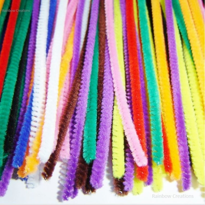Assorted coloured pipe cleaners children 39 s craft supplies for Craft pipes