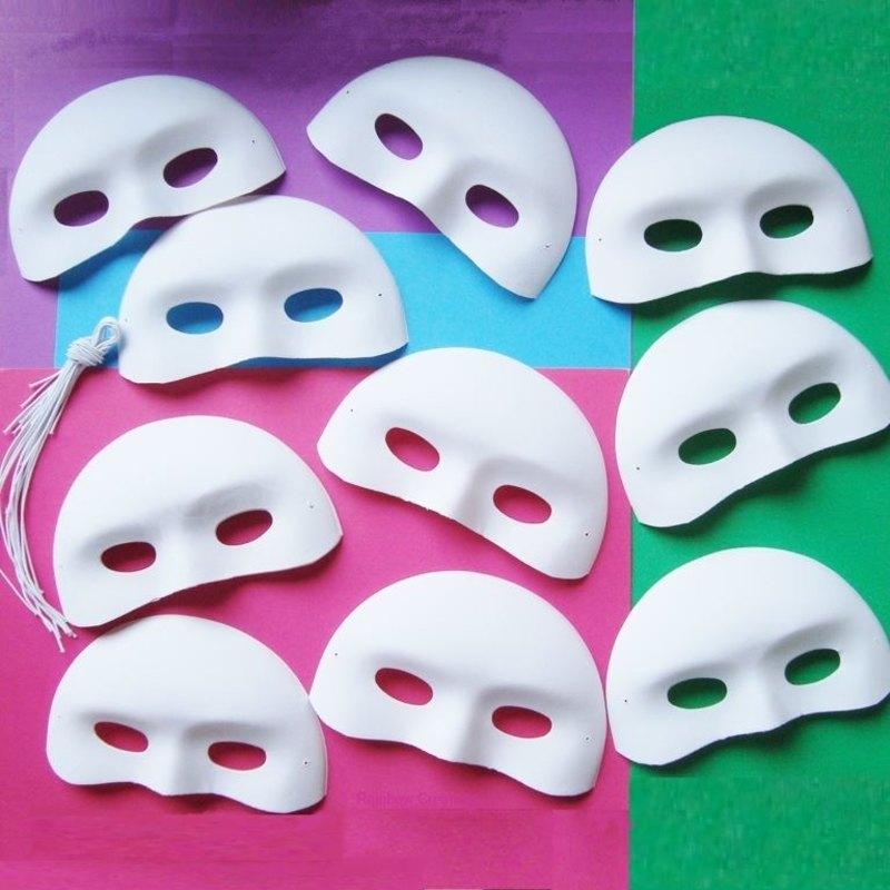 Half Face Masquerade Masks to Decorate | Model Making