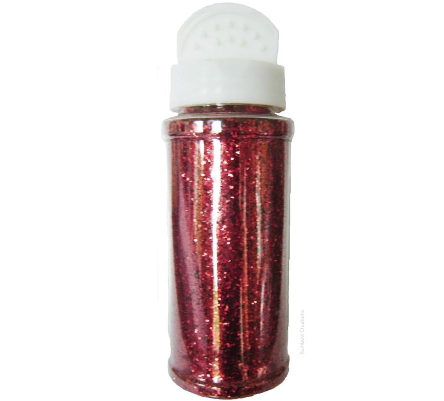 Red Glitter Shaker Pot Children S Craft Supplies Glitter