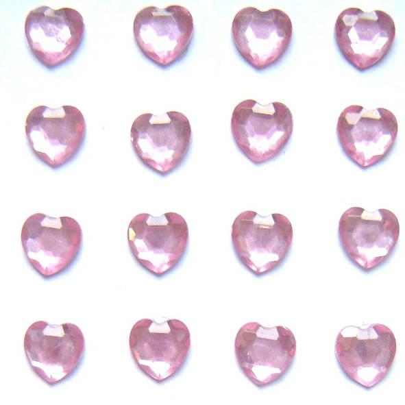 Self Adhesive Pink Heart Gems Children S Craft Supplies