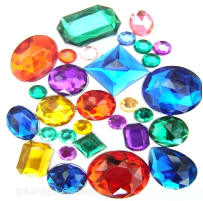 Acrylic jewels children 39 s craft supplies decorations for Plastic gems for crafts