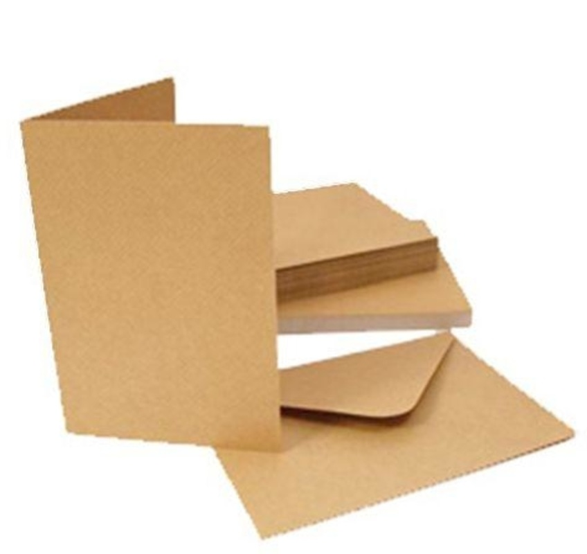 Kraft Card Blanks And Envelopes 50 Pack