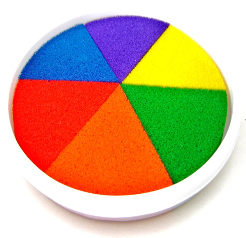 Rainbow Coloured Ink Paint Pad