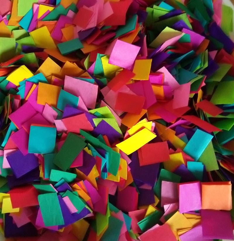 Tissue Paper Mosaic Pieces