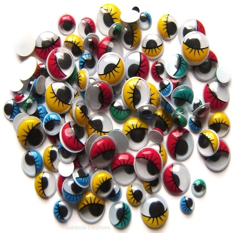 Googly eyes with eyelashes children 39 s craft supplies for Craft eyes with lashes