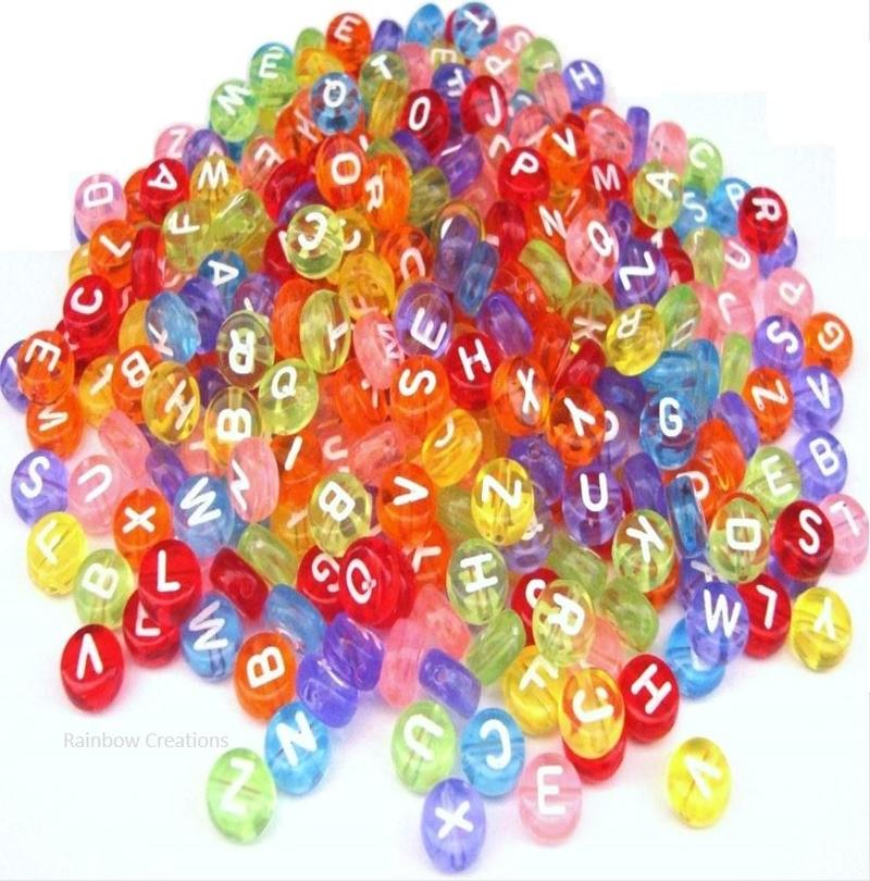 Coloured Letter Beads Children S Beads Alphabet Letter