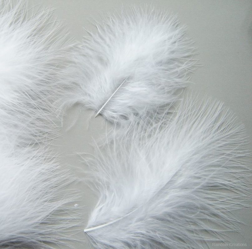 Marabou Feathers - White Feathers