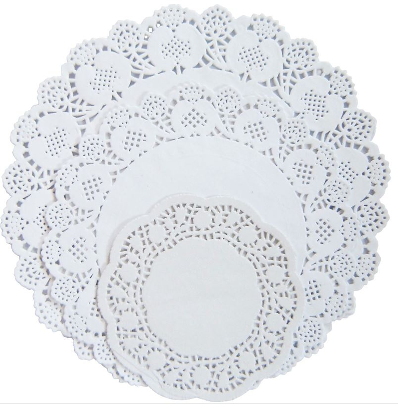 doilies paper Paper doilies convey a quality, elegant image for the table and serving stations use them to highlight desserts and appetizers, as well as table centerpieces.