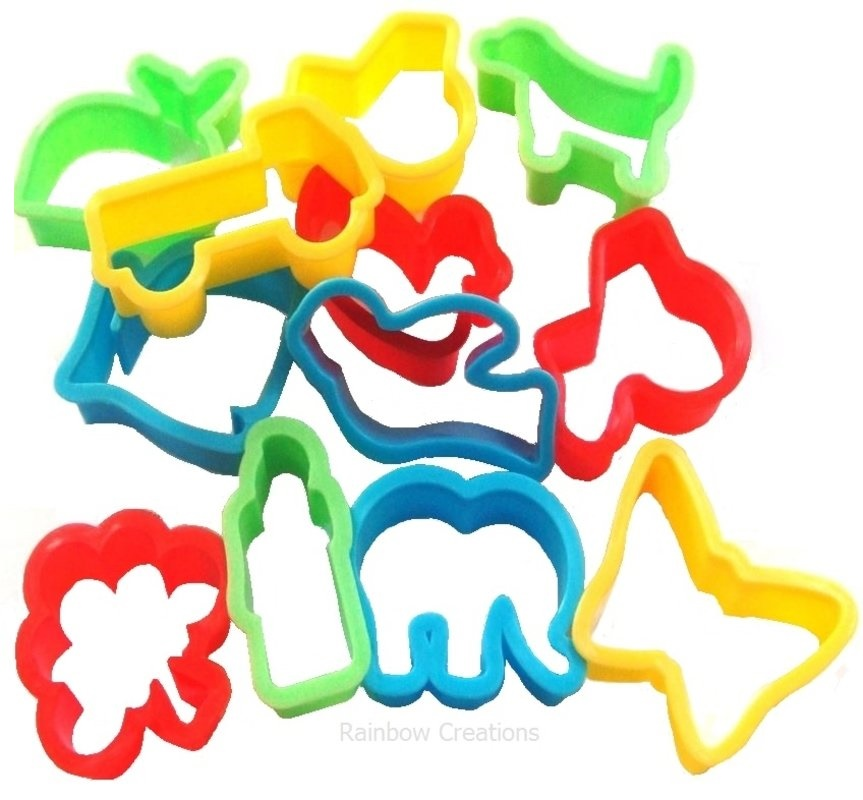 Set Of Small Play Dough Cutters
