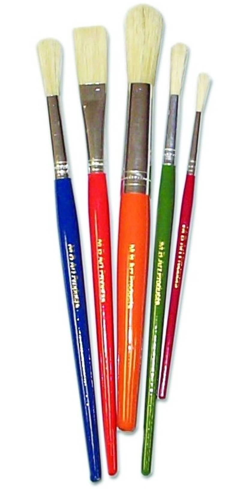 Set of Children's Paint Brushes with Assorted Tips