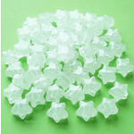 Glow in the Dark Star Beads - 50 Clear