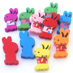 Wooden Rabbit Beads
