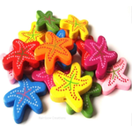 Wooden Starfish Beads