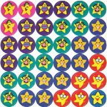 Happy Star Stickers