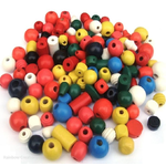 Children's Chunky Wooden Beads for Threading