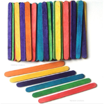 Children's Coloured Craft Sticks