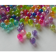 Small Round Plastic Spacer Beads