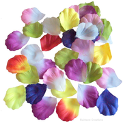 Fabric Flower Petals Assorted Colours