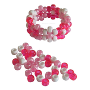 Pink and White Pony Bead Mix