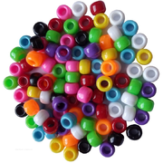 Opaque Coloured Pony Beads