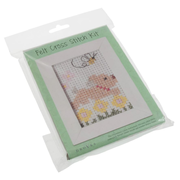 Cross Stitch Picture Kit With Wooden Frame