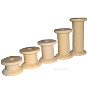 60 Assorted Wooden Spools