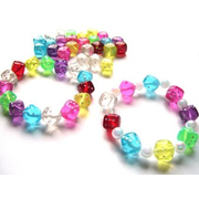 Coloured Dice Beads