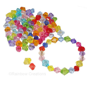 Multicoloured Acrylic Crystal Beads