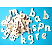 Small Plain Wooden Letters