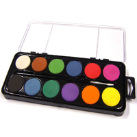 Watercolour Paint Set And Paint Brush