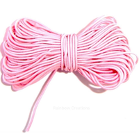 Round Pink Elastic Cord