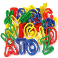 Plastic Alphabet Dough Cutters
