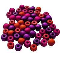 Wooden Pony Beads 10mm