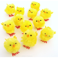 Small Fluffy Yellow Easter Chicks