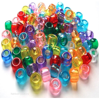 Mixed Transparent Pony Beads