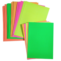Neon Coloured Card