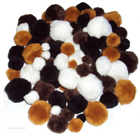 Pom Poms Assorted Animal Colours
