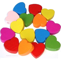 Heart Shaped Wooden Beads