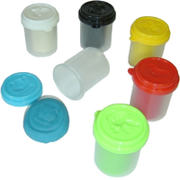 Six Small Tubs Play Dough
