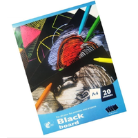 A4 Black Card 20 Sheets