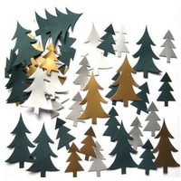 Mini Christmas Tree Pre-Cut Card Shapes